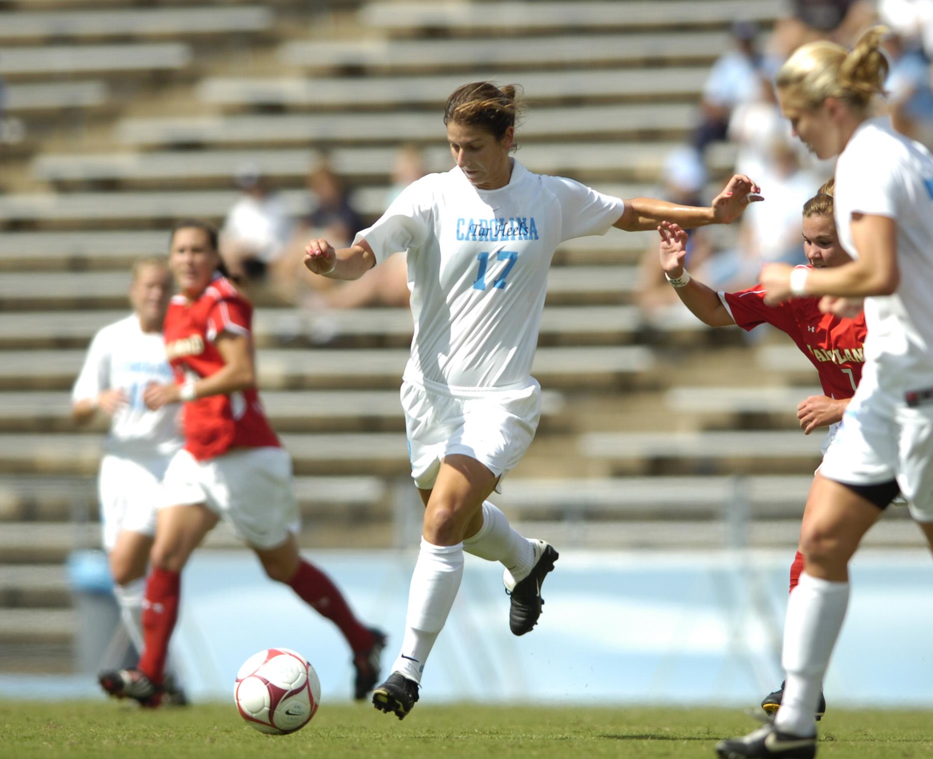 University of North Carolina Women's Soccer v Maryland UNC won 5-0 First Half Fetzer Field Chapel Hill, NC Sunday, September 28, 2008